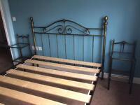 King Size Bedframe & 2 Bedside Tables