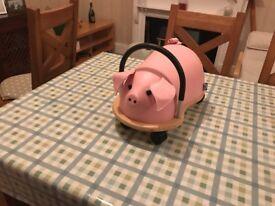 Large pig wheelybug rideon