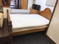 Solid chunky pine double bed