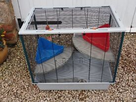 Rat/Chinchilla Cage with small Pet Carrier