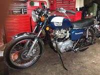 Fully restored Triumph Bonneville T140.