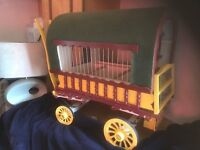Hand made gypsie wagon bird cage