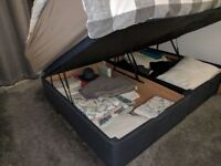 Double ottoman bed (storage) with mattress