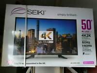 50 inch led 4k TV brand new unopened