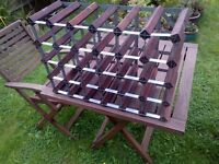 Good Quality Wooden Wine Rack for 30 Bottles in Excellent Condition