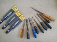 Assorted Chisels + Files (12 x Items)