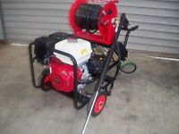 Pressure washer electric start Italian Petrol 3,000 psi 100 feet hose Reel