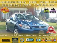 2012 Honda Civic LX-$53/Wk-Bluetooth-Tinted Windows