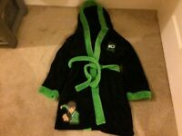 Ben 10 Alien Force Dressing Gown With Hood Aged 7-8yrs, 122-128cms