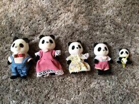 Sylvainian Families Panda Figures