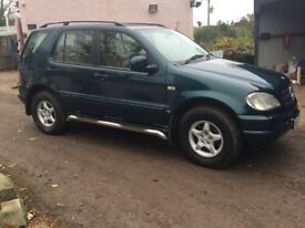 Mercedes M Class ML320, auto petrol 2000 4x4, immaculate, needs MOT