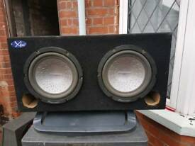 Car subwoofer twin pioneer