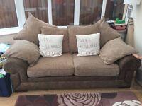 2 seater sofa (CSL) Brown/beige