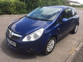 2008 VAUXHALL CORSA 1.0 LIFE 3 DOOR ONLY 65,000 FROM NEW WITH HISTORY LONG M.O.T BARGAIN ONLY £2295