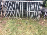 2 steel railings/ gates