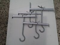 NEW £10 a pair LADDERCLAMPS (lock your ladders to roof rack)