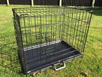 """Small dog crate cage 24""""L 18""""W"""