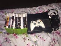 X box 360 with 14 games