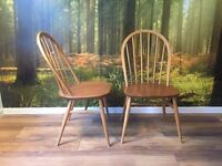 Pair of Vintage Ercol Windsor Dinning Chairs