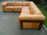 "Large ""Nubuck"" Luxury Leather Corner Suite"