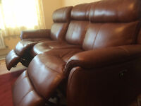 Leather Recliner Sofa - Relax Station Revive 3 Seater - only 4 months old