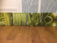 4 green M&s canvas prints