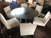 Large Dining Room Round Table With 6 Chairs £220