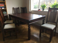 john lewis maharani 6-seater dining table and 6 chairs