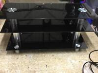 TV LCD DVD stand, 3 tier black