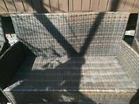 Rattan sofa & TWO CHAIS