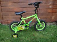 Apollo Marvin the monkey bike 12.5 inch wheels with stabilisers suit age 2 to 4 years