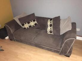 2/3 seater DFS brown sofa