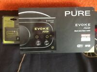 PURE Evoke Flow digital radio. brand new, still boxed together with PURE rechargeable battery pack.