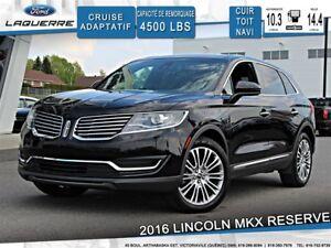 2016 Lincoln MKX RESERVE**CUIR*TOIT*NAVI* CAMERA*A/C 2 ZONES**