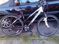 Ladies Carerra Crossfire 1 Bike. 19 inch Frame. Pristine condition