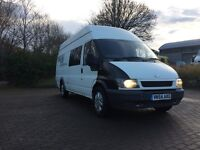 FORD TRANSIT 54REG, 6 SEAT, NEW INJECTORS, NEW MOT, CLEAN, IDEAL FOR CAMPER