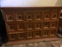 Wooden chest of drawers/ wide boy