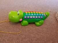 v tech alpha gator pull along interactive toy