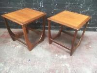 Beautiful pair of mid century occasional tables