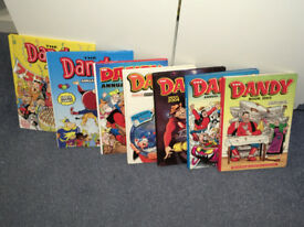 Selection of Dandy Annuals from various years.