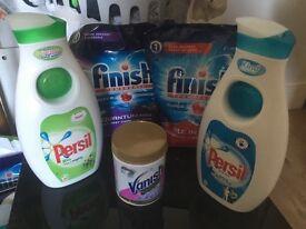 Persil washing liquid 1.4l 40 washes x1 & finish quantum Dishwasher tablets 60 x1 = £15