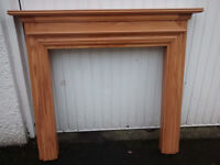 Solid pine-wood Fire surround, . Very good condition