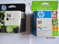 NEW HP 56 Black & HP57 Tri-Colour Inkjet Print Cartridges