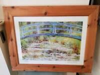 Monet framed print in solid wood frame