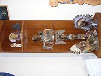 Native American Indian ornaments/plus corner unit