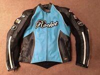 Joe Rocket Jet Set blue ladies women's leather motorbike jacket, Size Small, Excellent condition