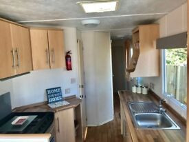 Static caravan by the sea on a 4 star park