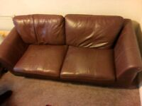 3 and 2 seat leather sofa