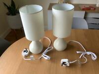 John Lewis Kristy Table / Bedside Lamps