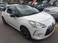 2010/60 CITROEN DS3 1.6THP DSPORT,WHITE/BLACK ROOF,STUNNING LOOKS,LOW MILEAGE,GREAT SPEC,DRIVES WELL